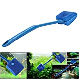 Petacc Double-sided Fish Tank Cleaner Sponge Cleaning Brush Portable Scraper Practical Scrubber with Non-slip Handle, Suitable for Cleaning Fish Tank (Blue) Photo, best price $9.99 new 2020