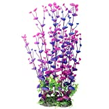 CNZ Aquarium Decor Fish Tank Decoration Ornament Artificial Purple Plastic Plant, 16-inch Photo, best price $7.99 new 2019