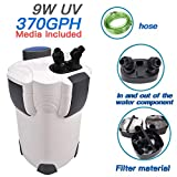 Polar Aurora Free Media 3 Stage 100 Gallon Aquarium Fish Tank Canister Filter + 9W UV Sterilizer 370 GPH Photo, best price $67.99 new 2019