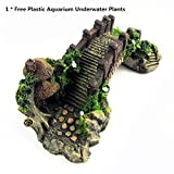 LOYEH Pavilion Tree Fish Tank Decoration Aquarium Ornament Poly Resin Bridge, 7 x 3.3 x 2.5 Inches Wonderful for The Underwater Environment, Aquariums, Fish Tank, Gardens (Wood Color) Photo, best price $39.99 new 2020