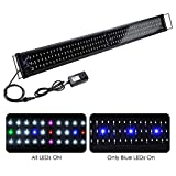 Yescom Multi-Color 156 LED Aquarium Light Full Spectrum Lamp Extendable Brackets for 45-50