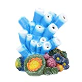 Aquarium Decor Air Bubble Stone Blue Coral Starfish Oxygen Pump Resin Crafts Aquarium Fish Tank Ornament Decoration Photo, best price $16.99 new 2020