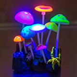 Govine Aquarium Decorations,Glowing Artificial Mushroom, Plastic Aquarium Ornament Decorations for Fish Tank Decorations Photo, best price $8.89 new 2019