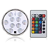 Lyyes Submersible LED Lights Underwater Led Lights Waterproof Colorful Pond LED Lights for Hot Tub,Aquarium, Vase Base, Pond, Swimming Pool (1pack) Photo, best price $6.99 new 2019