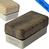 Magnetic Aquarium Glass Algae Cleaner – Removes Algae from Fish Tank easily – Floating inner brush – Handmade and Unique Wood Design by Wallko - Large/XL, Burned Oak Photo, best price $31.50 new 2018