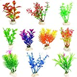 Glendan 10 Pack Artificial Aquarium Plants-Small Size 4 to 4.5 inch Fish Tank Decorations Home Décor Plastic Assorted Color Photo, best price $5.99 new 2020