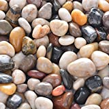 OUPENG Pebbles 2 Pounds Polished Gravel, Natural Polished Mixed Color Stones, Small Decorative River Rock Stones (32-Oz). Photo, best price $8.69 new 2019