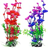 Mudder Artificial Aquatic Plants Aquarium Plants Plastic Fish Tank Decorations 7.5 Inch, 2 Pieces Photo, best price $8.75 new 2019