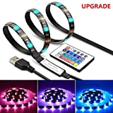 LED Strip Light TV Bias Backlight Kit IP65 Waterproof Accent RGB Monitor Lighting Strip with Remote Control -16 Colors USB Powered 60 Leds for HDTV Desktop PC Fish Tank Decorations (2 Meters-6.6 ft) Photo, best price $9.96 new 2020