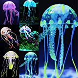 Uniclife 6 Pcs Glowing Jellyfish Ornament Decoration for Aquarium Fish Tank Photo, best price $12.99 new 2018