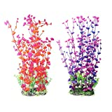 2-Pack Aquarium Decor Fish Tank Decoration Ornament Artificial Plastic Red/Purple 16-inch Tall Photo, best price $13.99 new 2018