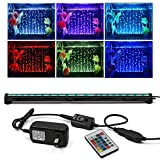 KAPATA Submersible Aquarium Light, Underwater LED Lighting with 24key Controller 16 Colors and 4 Color Changing Modes for Fish Tank 52CM/21inch Photo, best price $24.99 new 2019